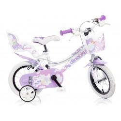 """DINO Bikes - Dětské kolo 12"""" bílé"""