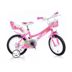 "DINO Bikes - Dětské kolo 16"" růžové"