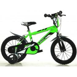 """DINO Bikes - Dětské kolo 16"""" zelené"""