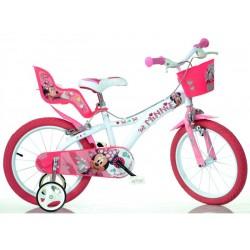 """DINO Bikes - Dětské kolo 14"""" Minnie se sedačkou pro..."""