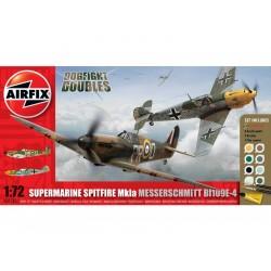 Airfix Supermarine Spitfire Mk1a, Messerschmitt BF109E-4...