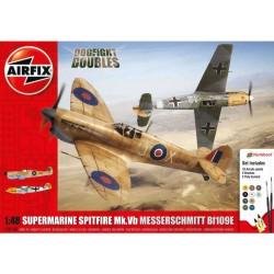 Airfix Supermarine Spitfire MkVb, Messerschmitt BF109E...
