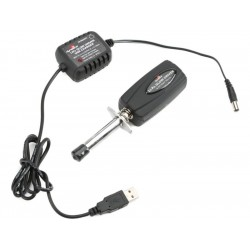 Žhavící koncovka LiPol s měřidlem s USB nabíječem