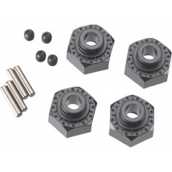 Axial AX30429 Hliníkový naboj kola 12mm černý (4)