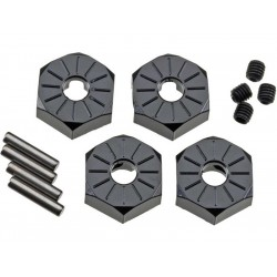 Axial AX30427 Hliníkový náboj kola 12mm černý (4)