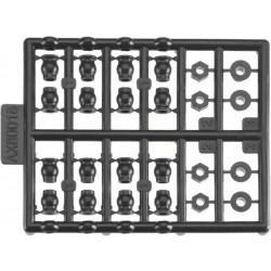 Axial AX80018 Koncovky táhel, plastové díly: Scorpio RTR