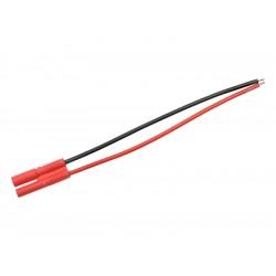 Konektor zlacený 2.0mm samec s kabelem 20AWG 10cm
