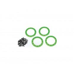 """Traxxas hliníkový beadlock kroužek 2.2"""" zelený (4)"""