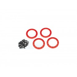 """Traxxas hliníkový beadlock kroužek 2.2"""" červený (4)"""