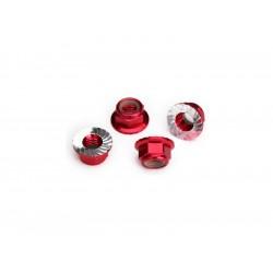 Traxxas samojistná matice s límcem M5 červená (4)