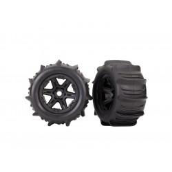"""Traxxas kolo 3.8"""" černé, pneu Paddle (2)"""