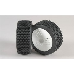 Mini - Pin S/OR-nalepené gumy na Leo bílých diskách, 2ks.
