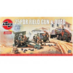 Airfix Quad a 25 librový polní kanón (1:76) (Vintage)