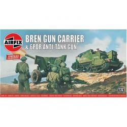 Airfix Bren a 6 librové protitankové dělo (1:76) (Vintage)