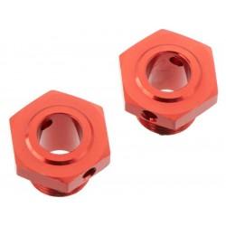 Arrma AR310447 Náboj kola 17mm/13.6mm hliník červený (2)