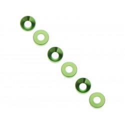Axial AXA1101 Podložka kónická 3x6.9x2mm zelená (6)