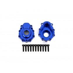 Traxxas vnější díl nápravy hliníkový modrý (2): TRX-4