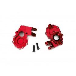 Traxxas vnitřní díl přední nápravy hliníkový červený (2):...