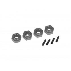 Traxxas náboj kola 12mm hliníkový šedý (4): TRX-4