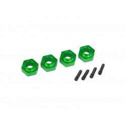 Traxxas náboj kola 12mm hliníkový zelený (4): TRX-4