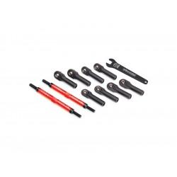 Traxxas ojnička řízení hliníková červená 144mm (2)