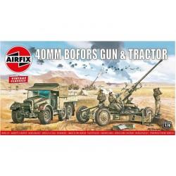 Airfix Bofors 40mm kanón, Tractor (1:76) (Vintage)