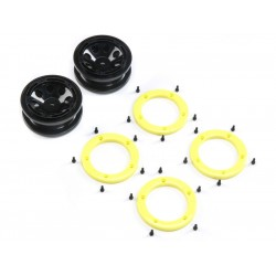 ECX Disk kola, beadlock černý/žlutý (2): 1:18 Temper G2
