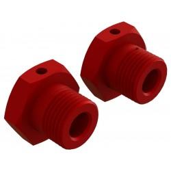 Arrma AR310904 Náboj kola 17mm hliník červený (2)