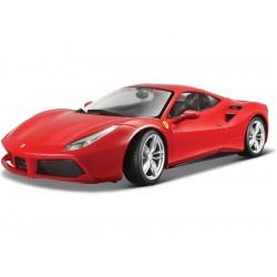 Bburago Ferrari 488 GTB 1:18 červená