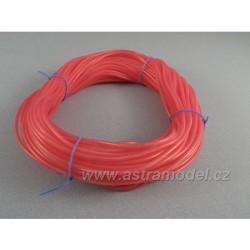 Silikonová hadička 2.4/5.5mm červená (50m)