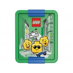 LEGO box na svačinu 170x135x69mm - Iconic Boy modrý