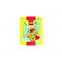 LEGO box na svačinu 170x135x69mm - Iconic Girl červený