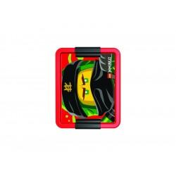 LEGO box na svačinu 170x135x69mm - Ninjago červený