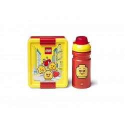 LEGO svačinový set - Iconic Girl červený