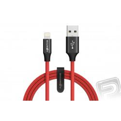 BlitzWolf Datový kabel Lightning červený (délka 1,8 m)...