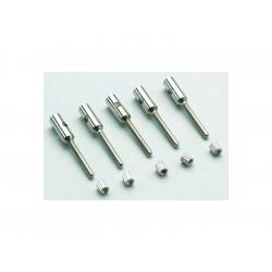 Závitová koncovka hliník M2.5 uhlík 5mm (5)