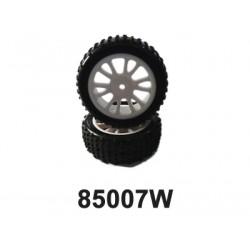 Přední gumy nalepené na bílých diskách (HM85005W+HM85006)...