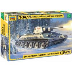 Zvezda T-34/76 mod.1943 Uralmash (1:35)