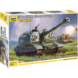 Zvezda MSTA-S Self Propelled Howitzer (1:72)