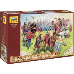 Zvezda figurky - republikánská římská pěchota (RR) (1:72)