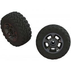 Arrma kolo s pneu dBoots Ragnarok Mt, černý chrom (2)