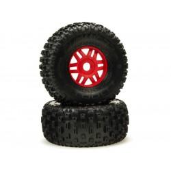 Arrma kolo s pneu dBoots Fortress černé (pár)