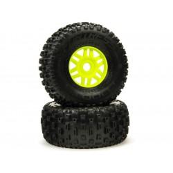 Arrma kolo s pneu dBoots Fortress zelené (pár)