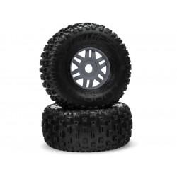 Arrma kolo s pneu dBoots Fortress metal (pár)