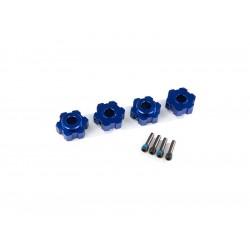 Traxxas náboj kola hliníkový modrý (2)