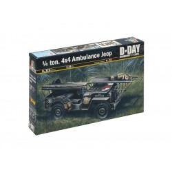 Italeri 1/4 Ton. 4x4 Ambulance Jeep (1:35)