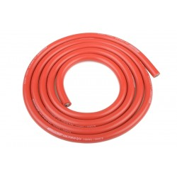 Silikonový kabel 5,5qmm, 10AWG, 1metr, červený