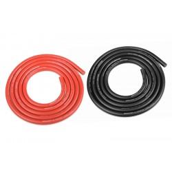 Silikonový kabel 4,5qmm, 12AWG, 2x1metr, černý a červený