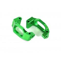 Traxxas závěs těhlice hliníkový zelený (pár)