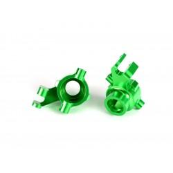 Traxxas těhlice přední hliníková zelená (pár)